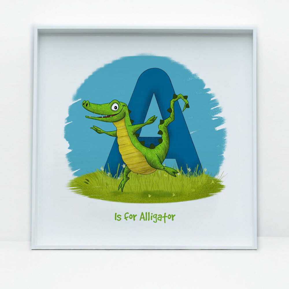 SDB Illustration_A is for Alligator