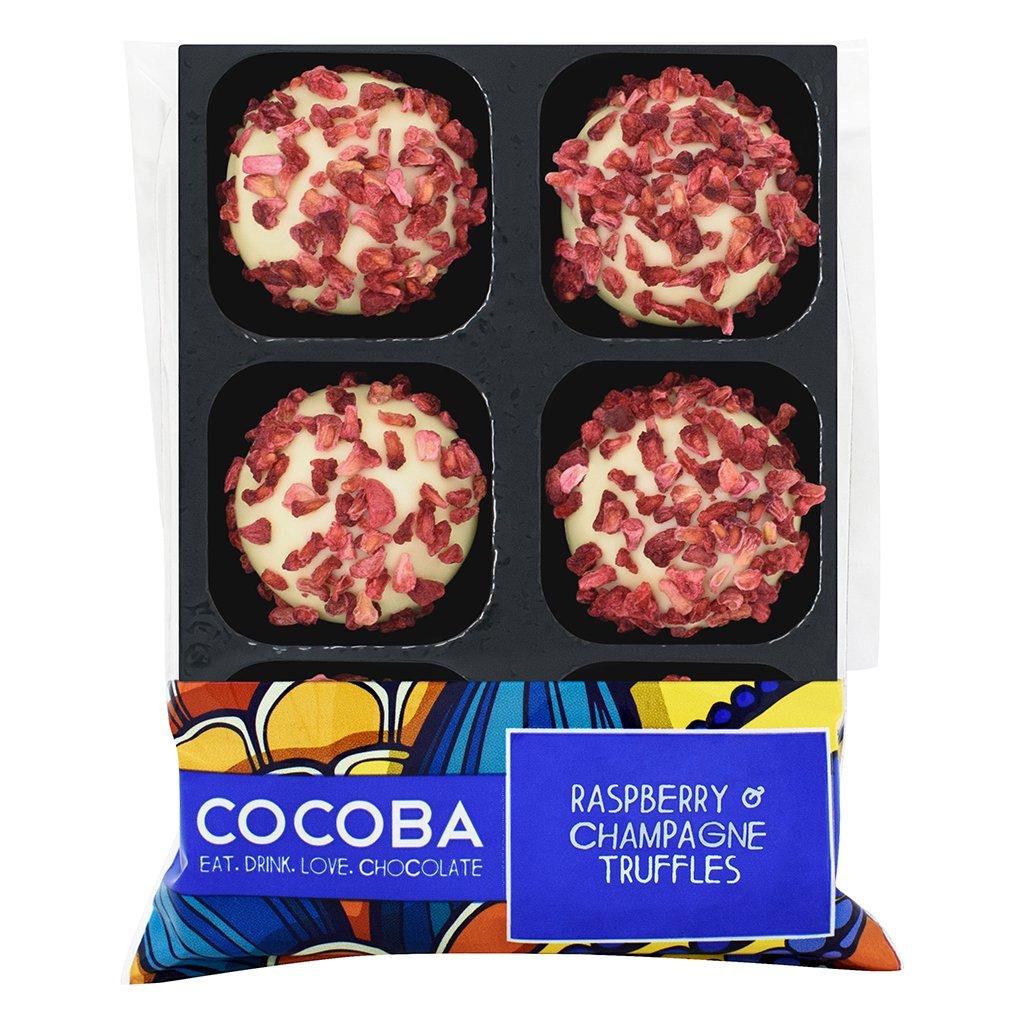 Cocoba Raspberry & Champagne Truffles
