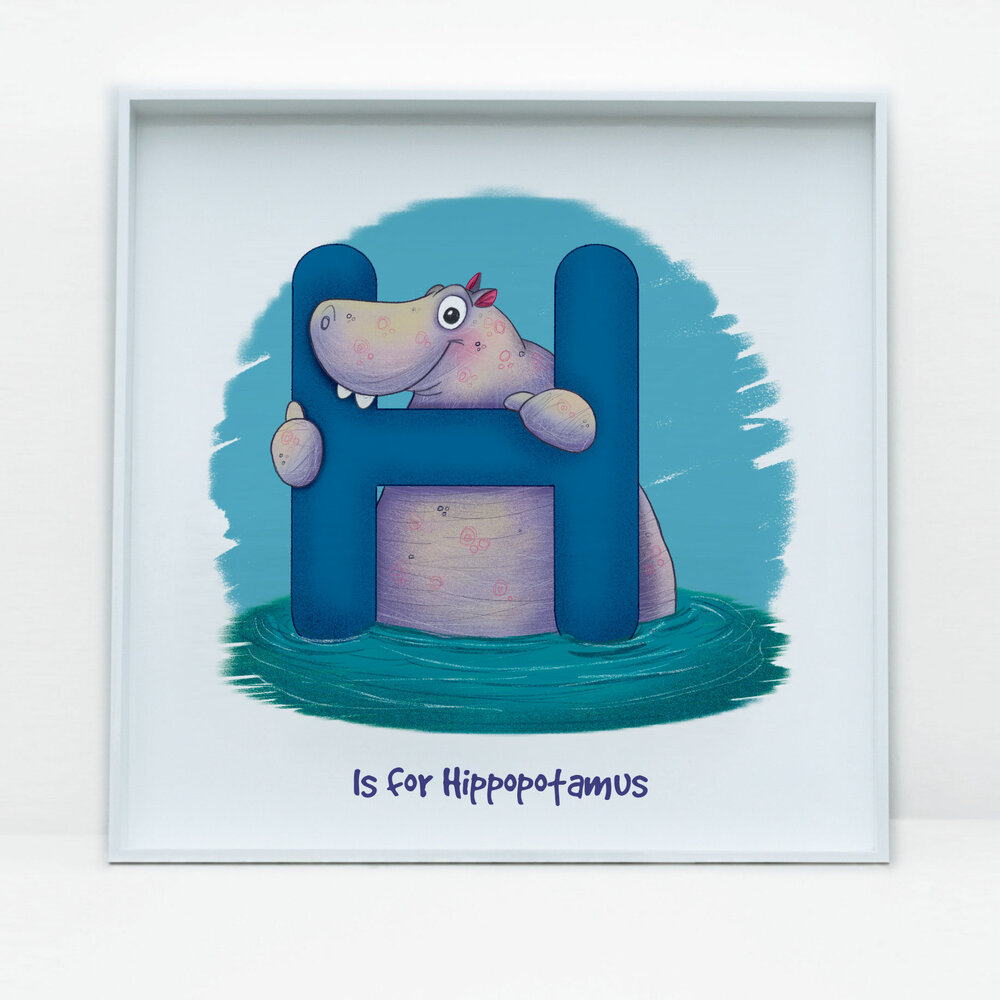 SDB Illustration_H is for Hippopotamus