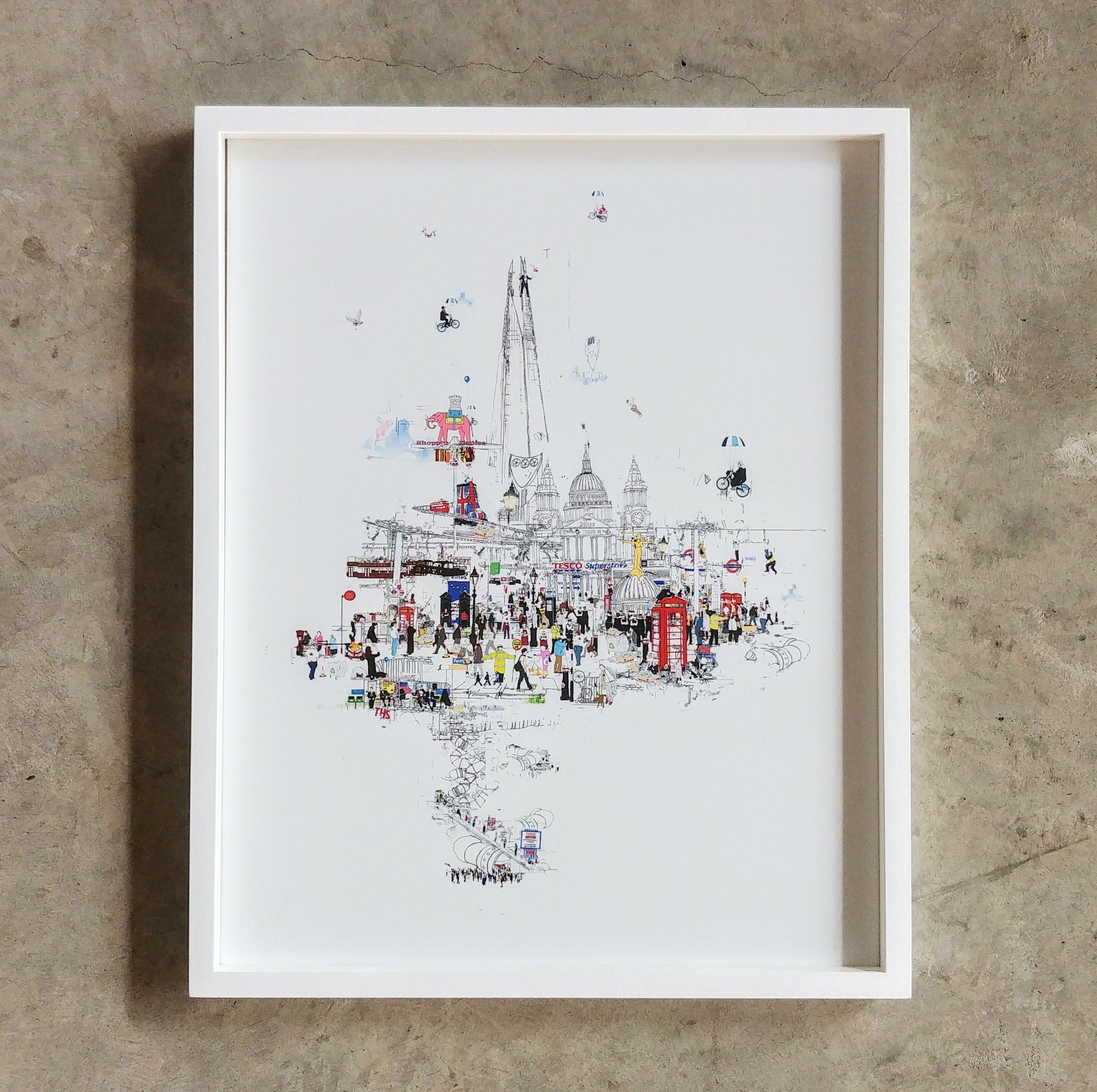 Laura Jordan Crazy Town (framed)