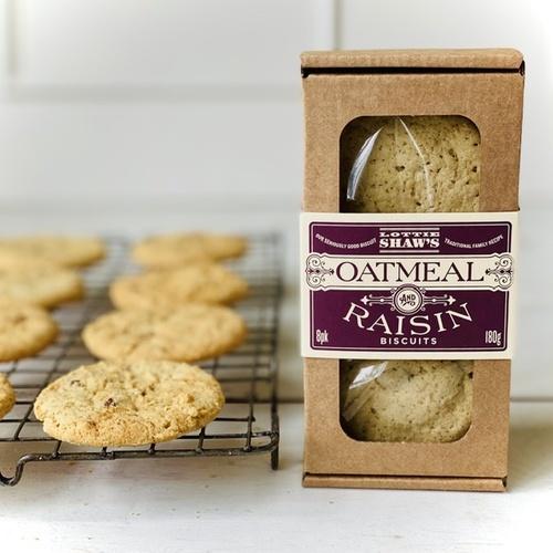 Lottie Shaw's Oatmeal & Raisin Biscuit Box