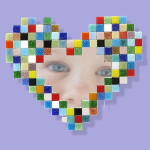 Mosaikit Heart Mirror