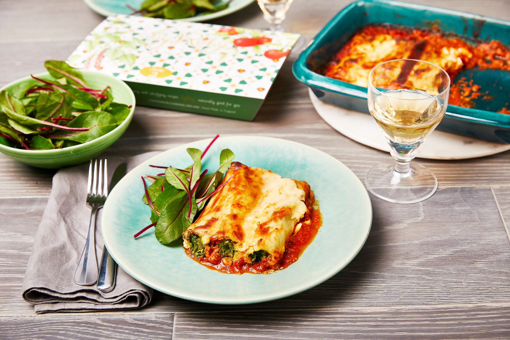 ByRuby Spinach and Ricotta Cannelloni