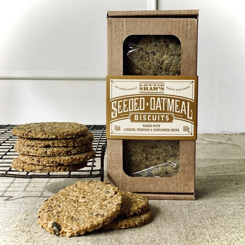 Lottie Shaw's Seeded Oatmeal Biscuit Box