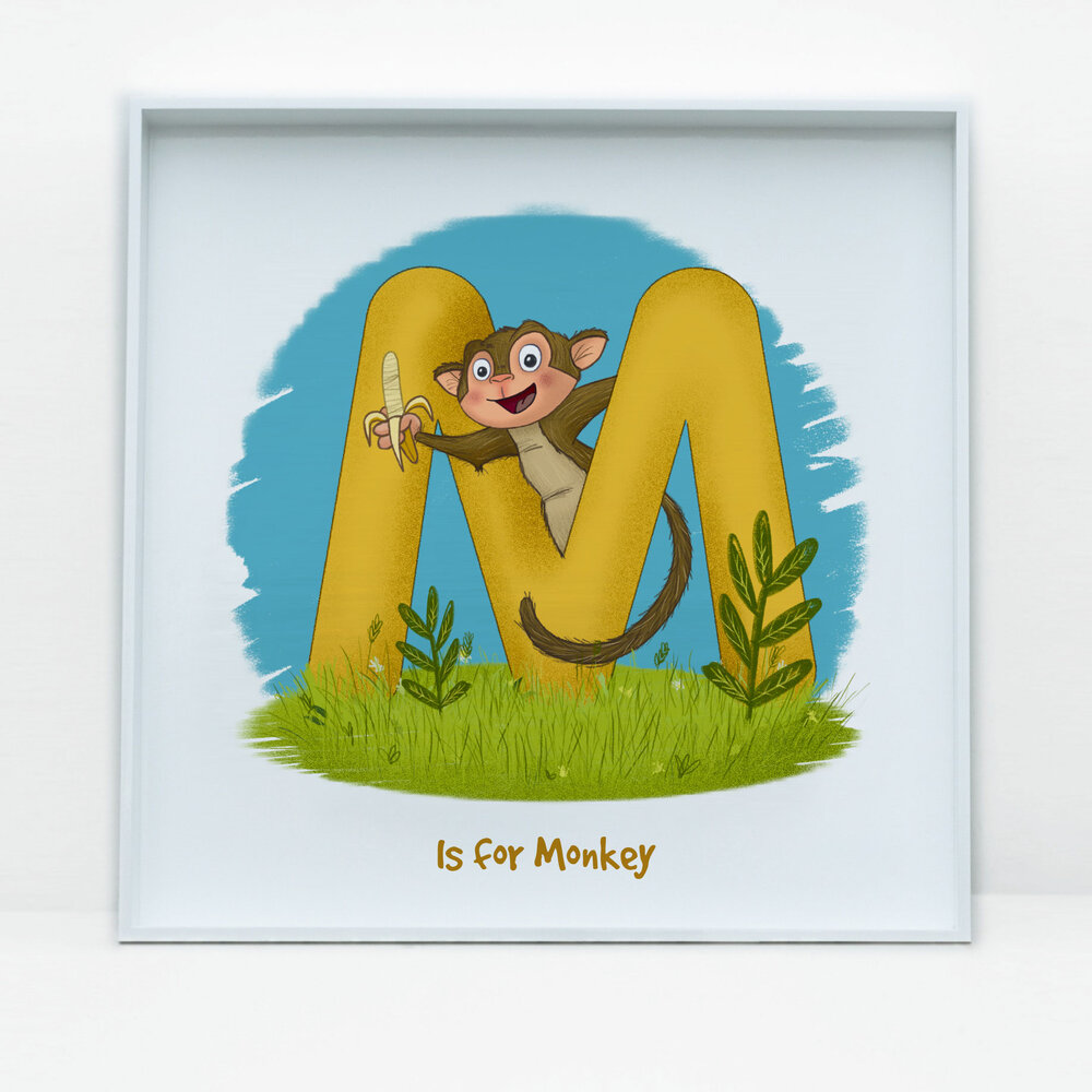 SDB Illustration_M is for Monkey