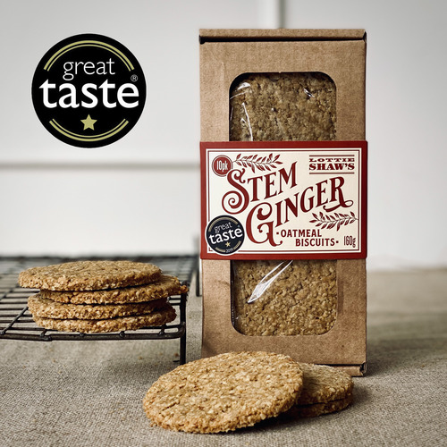 Lottie Shaw's Stem Ginger Oatmeal Biscuit Box
