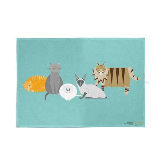 Ellie Good Organic Cotton Cats Tea Towel