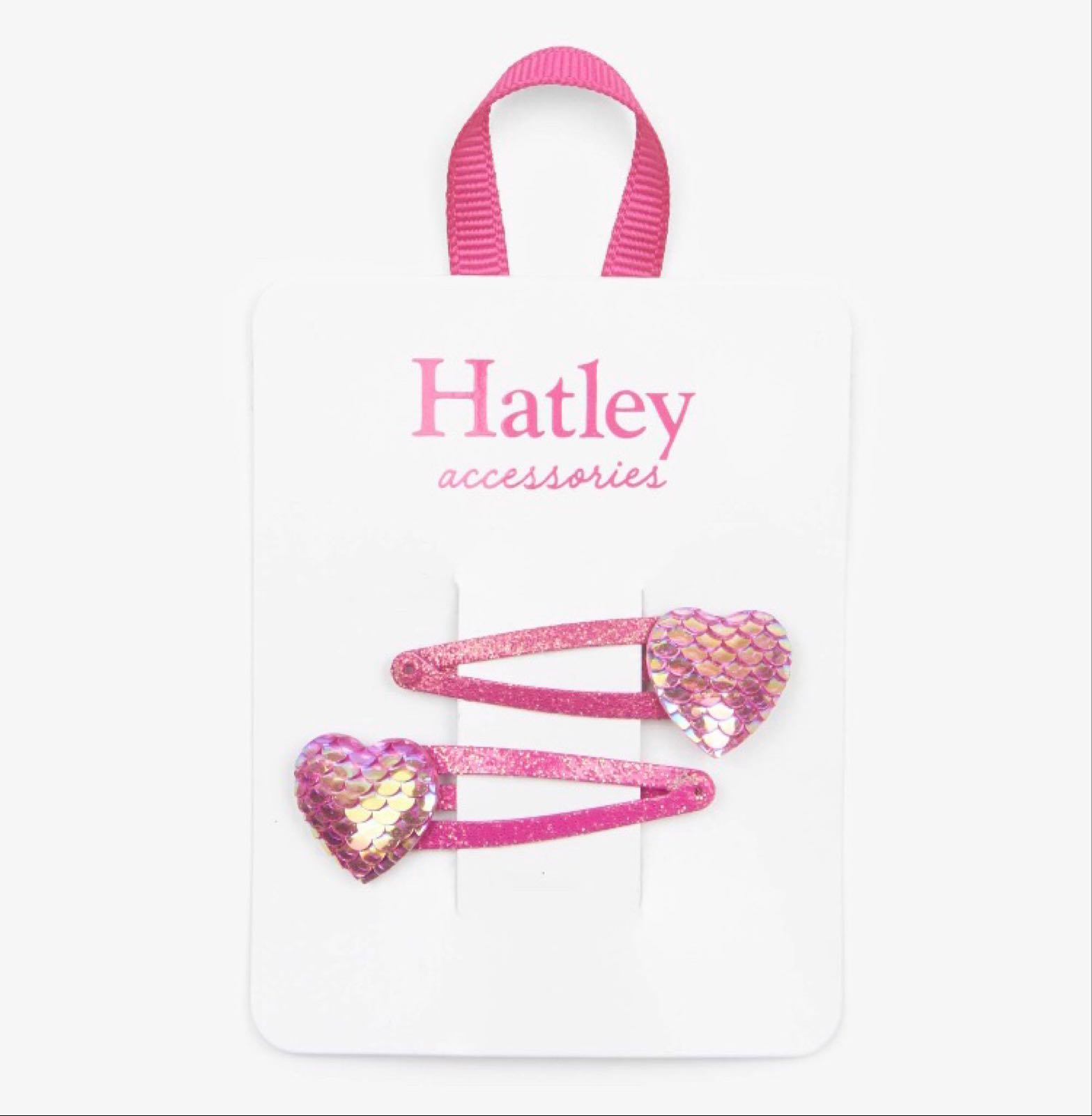 Hatley Glimmer Hearts Snap Clips