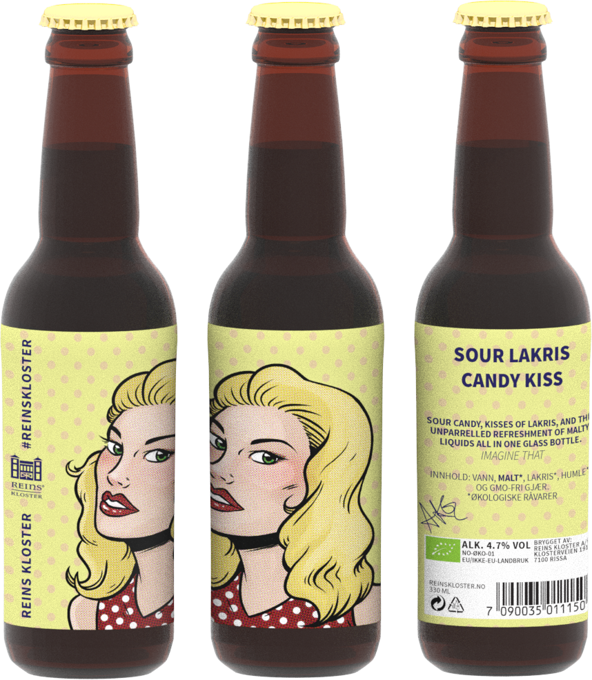 Sour Lakris Candy Kiss - Surøl - 330ml