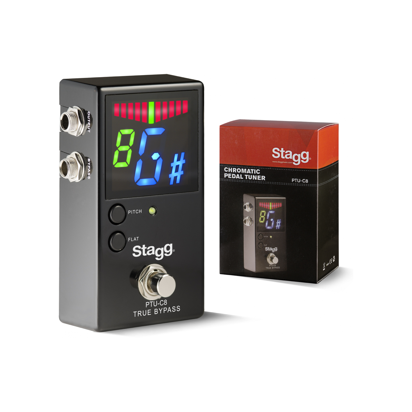 Stagg PTU-C8 Chromatic Pedal Tuner