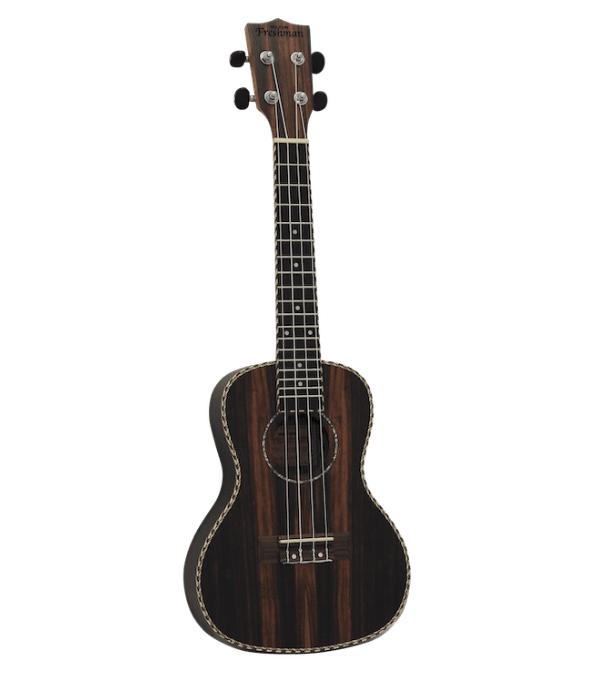 Freshman Ebony Concert ukulele w/bag UKEBONYCON