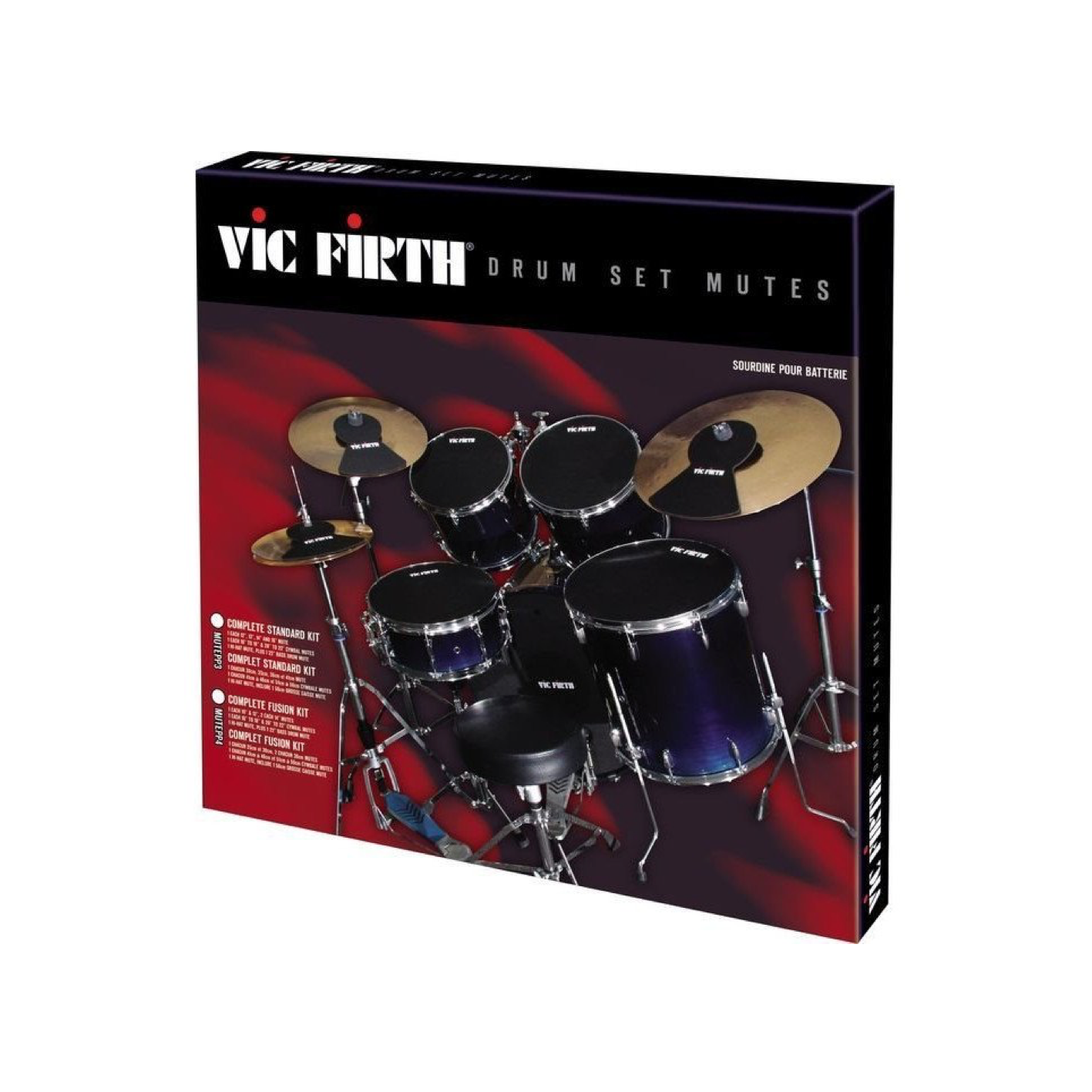 """Vic Firth MUTEPP5 Drum Mute Pack (20"""" Fusion Size)"""