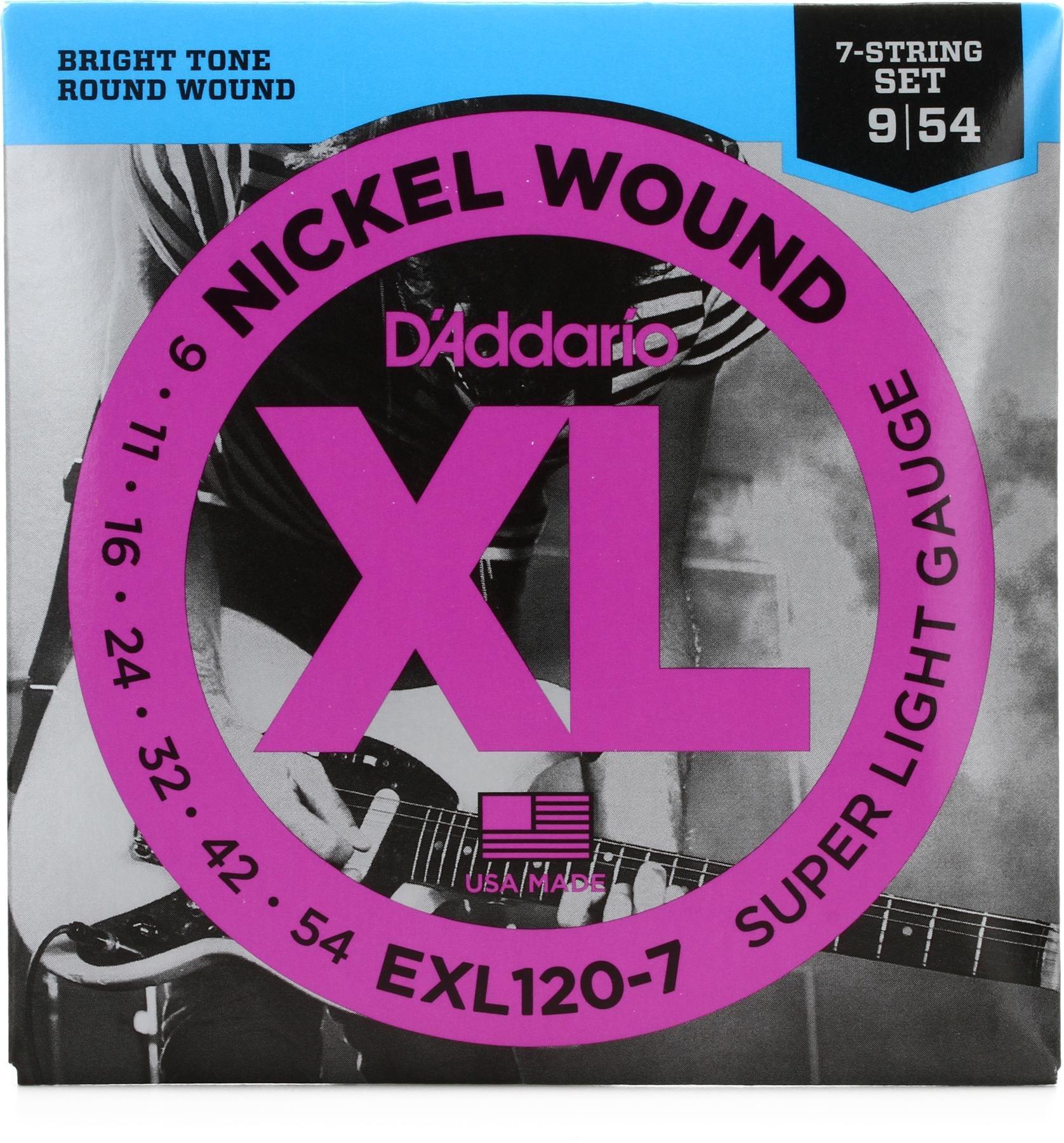 D'Addario EXL 7 String Set (Various Gauges)