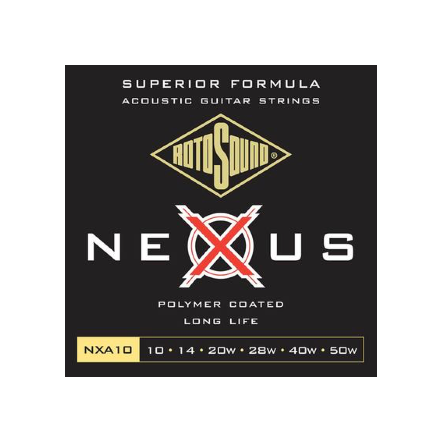 Rotosound Nexus Polymer Coated Acoustic Guitar Strings (Various Gauges)