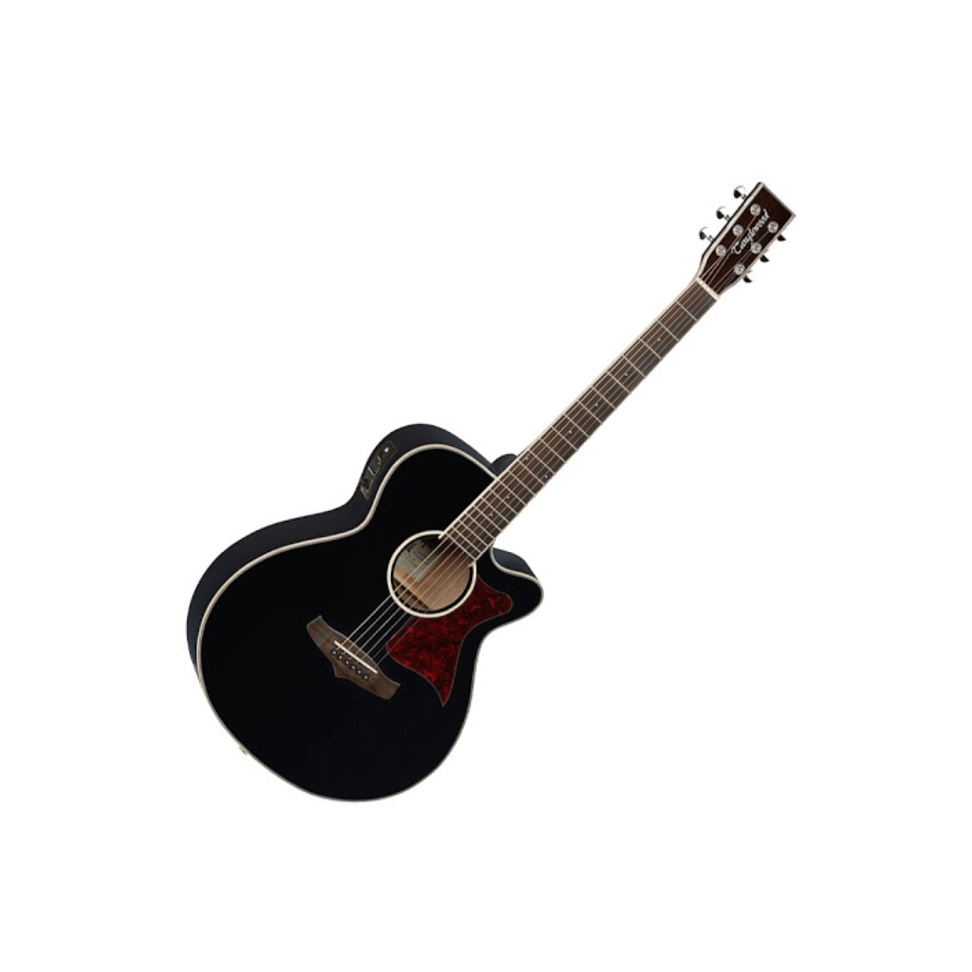 Tanglewood Winterleaf Super Folk guitar in black gloss TW4-BK