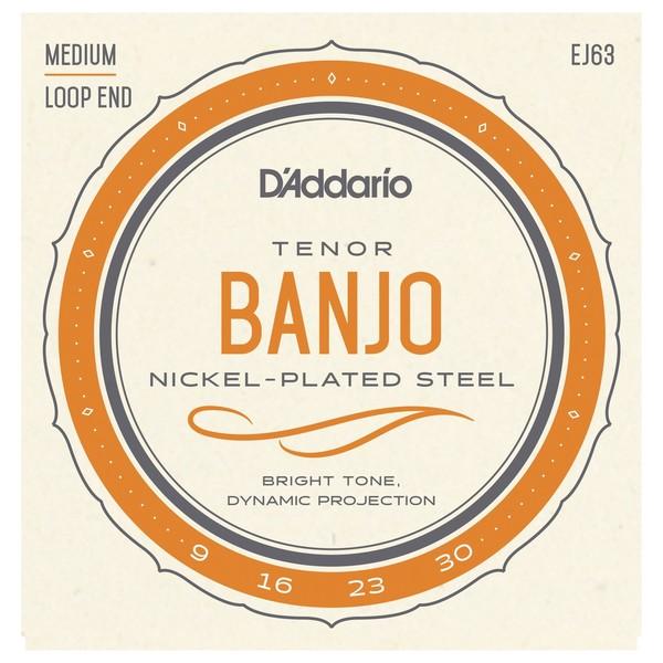 D'Addario EJ63 Tenor Banjo Set Medium Loop End