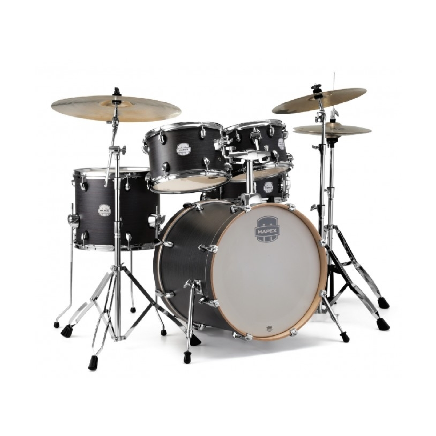 """Mapex Storm 20"""" Fast Fusion Drum Kit Wood Grain (Cymbals Not Included)"""