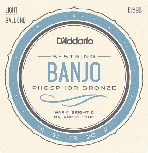 D'addario EJ69B Banjo P'bronze Light Ball End