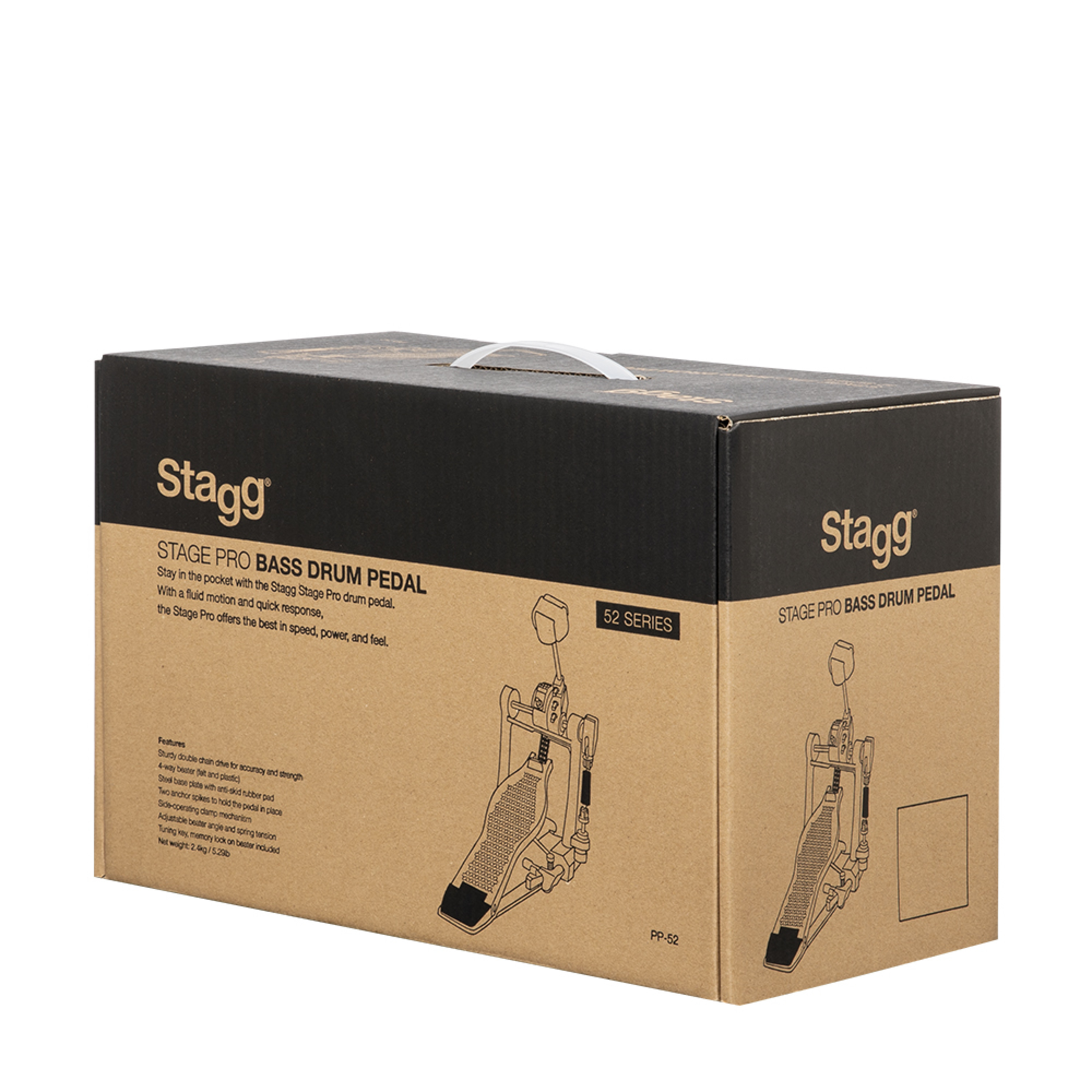 Stagg Double Bass Drum Pedal with chain PPD-52