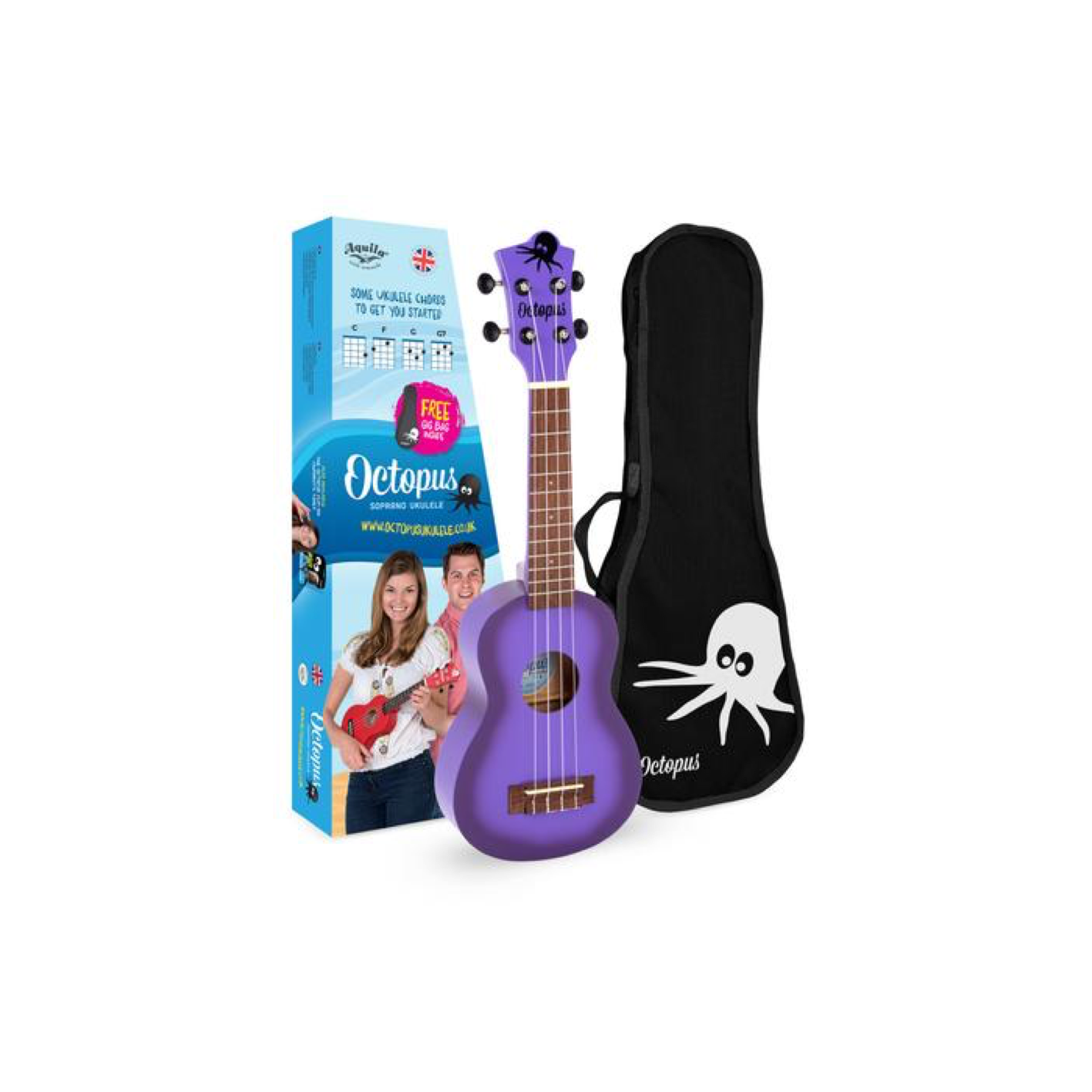Octopus UK205 Soprano Uke (Various Colours)