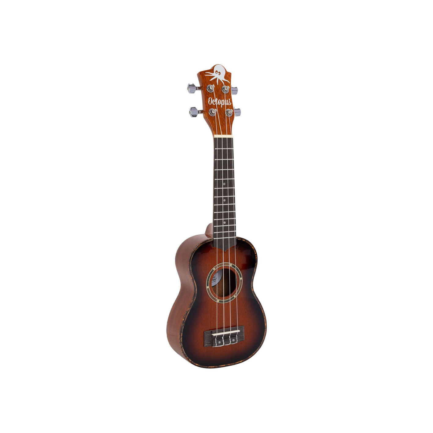 Octopus UK300S Gloss Mahogany Soprano Uke w/ Bag