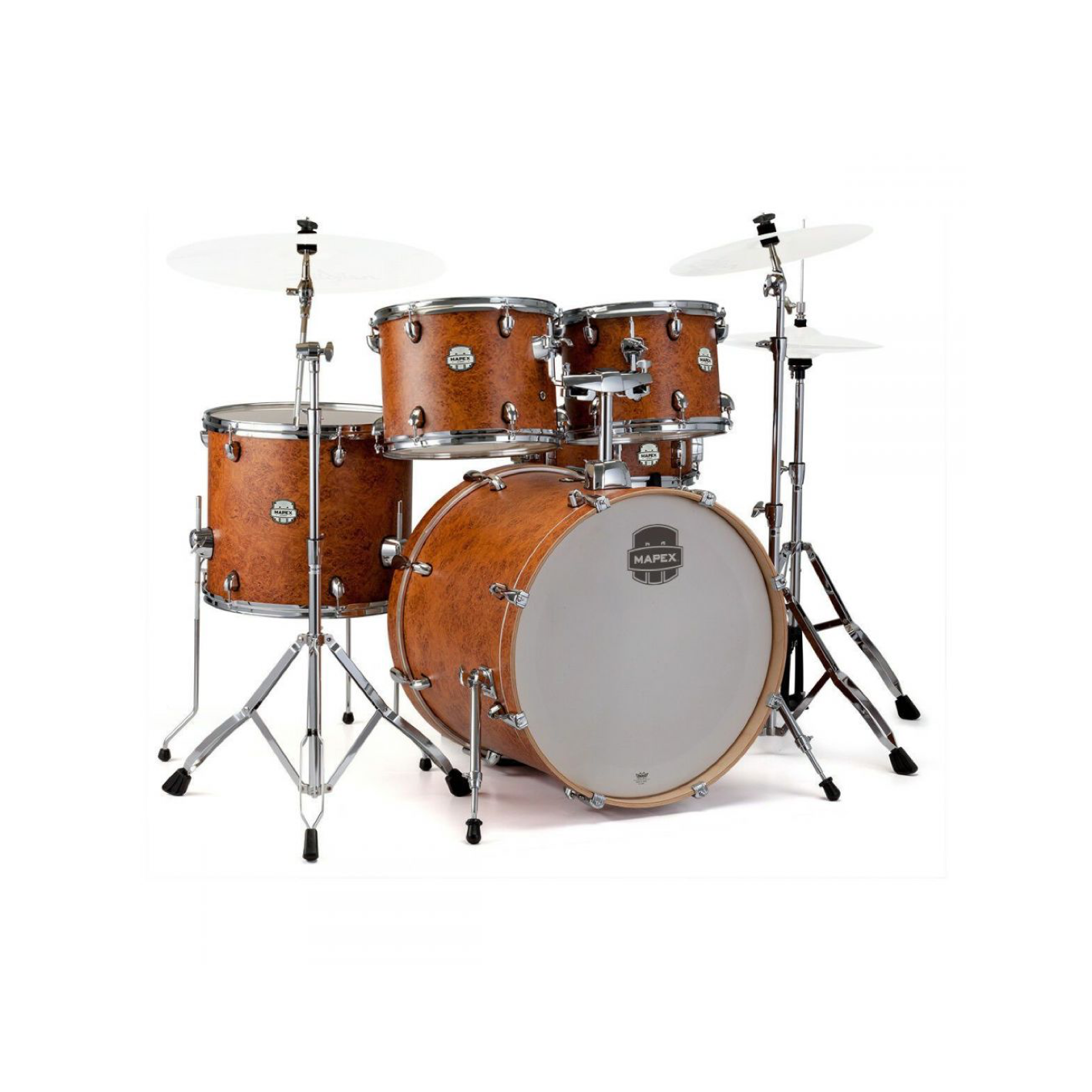 """Mapex Storm 20"""" Fast Fusion 5 Piece Drum Kit Camphor Wood Grain With Cymbals"""