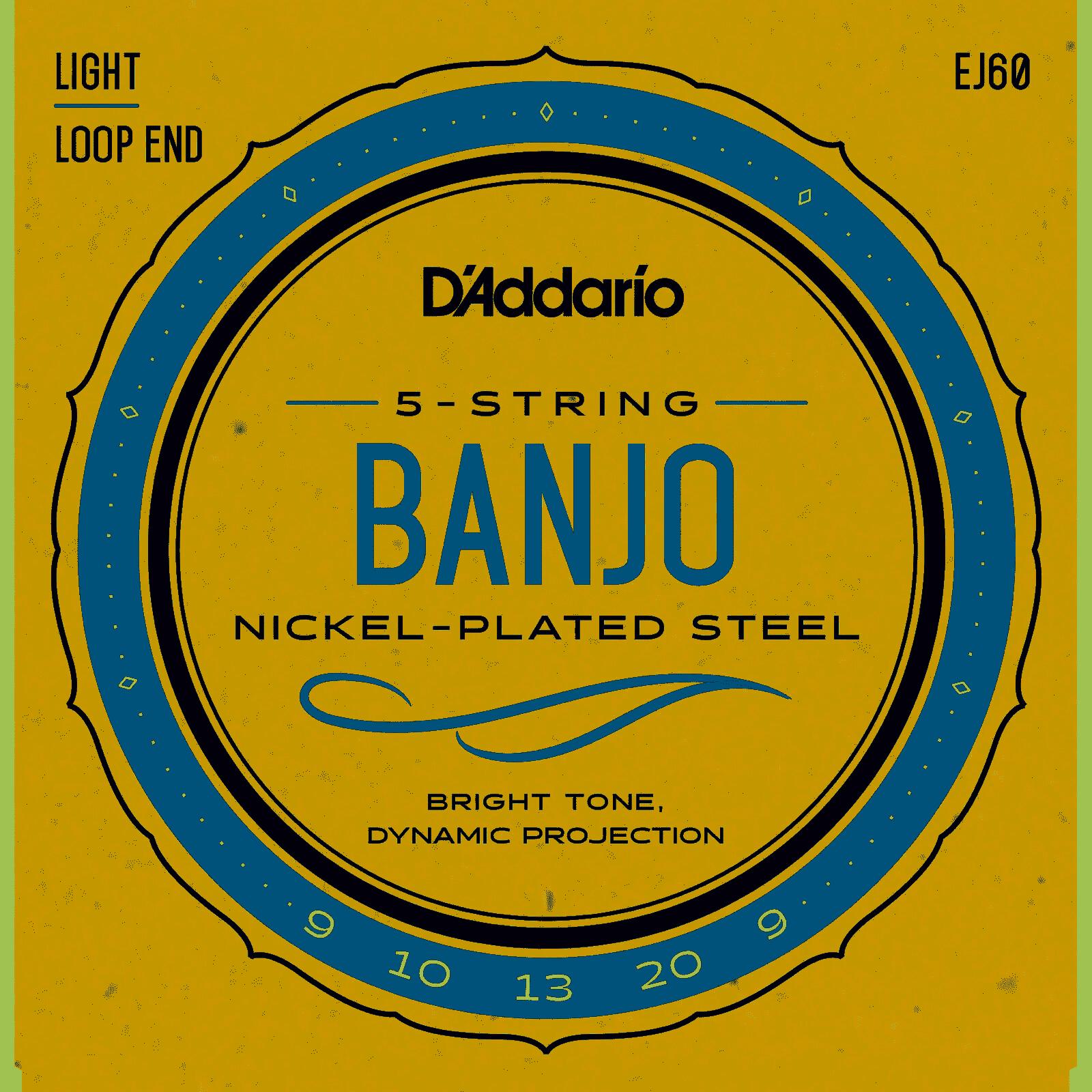 D'Addario EJ60 5 String Banjo Set Light Loop End