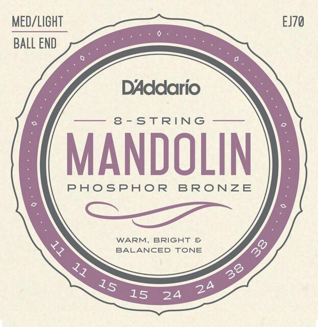 D'Addario EJ70 Mandolin Phosphor Bronze Set Light Ball End