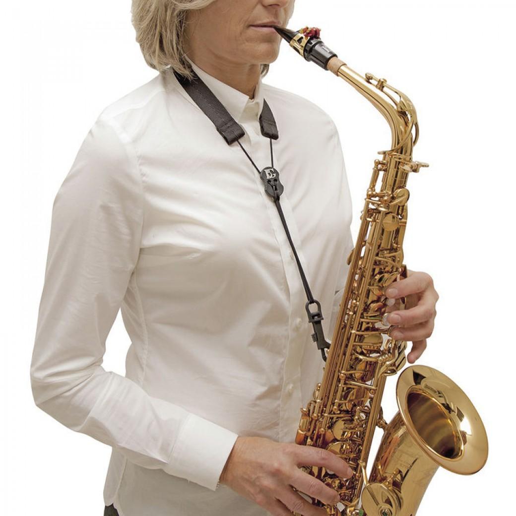 BG basic webbing saxophone strap (black) SFSH