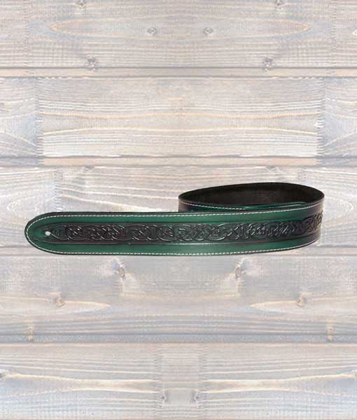 Leathergraft Celtic Embossed Guitar Strap (Various Colours)