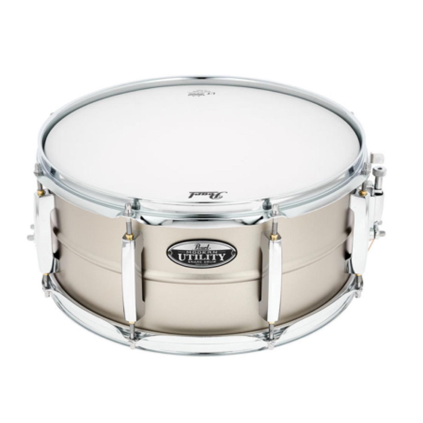 "Pearl Modern Utility 14"" x 6.5"" Steel Snare Drum"