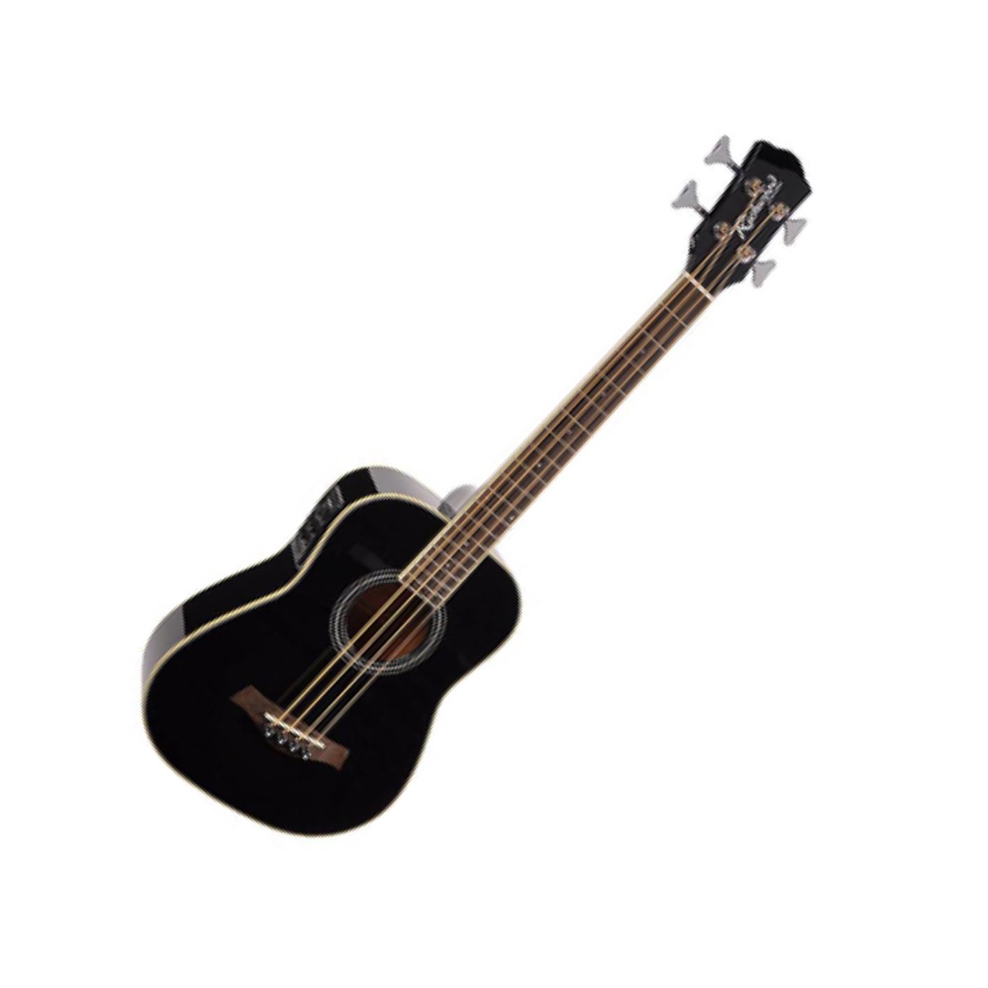 Richwood RTB-80-BK Electro Acoustic Travel Bass Black w/ Gig Bag