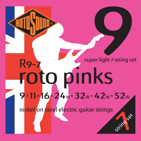 Rotosound 7 String Electric Set (Various Gauges)
