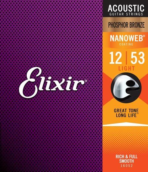 Elixir Phosphor Bronze Nanoweb Acosutic Strings