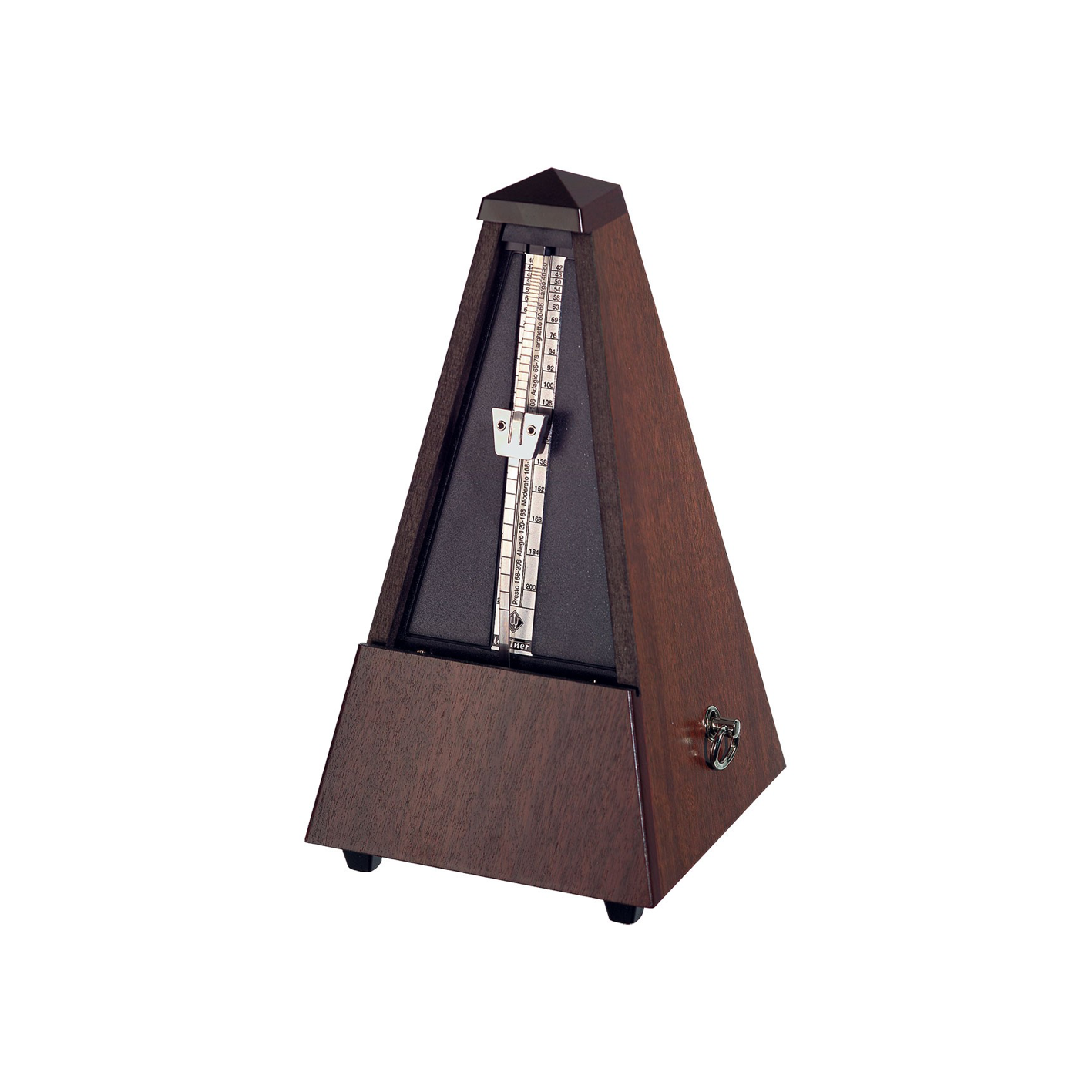 Wittner 804 Genuine Walnut High Gloss No Bell Metronome
