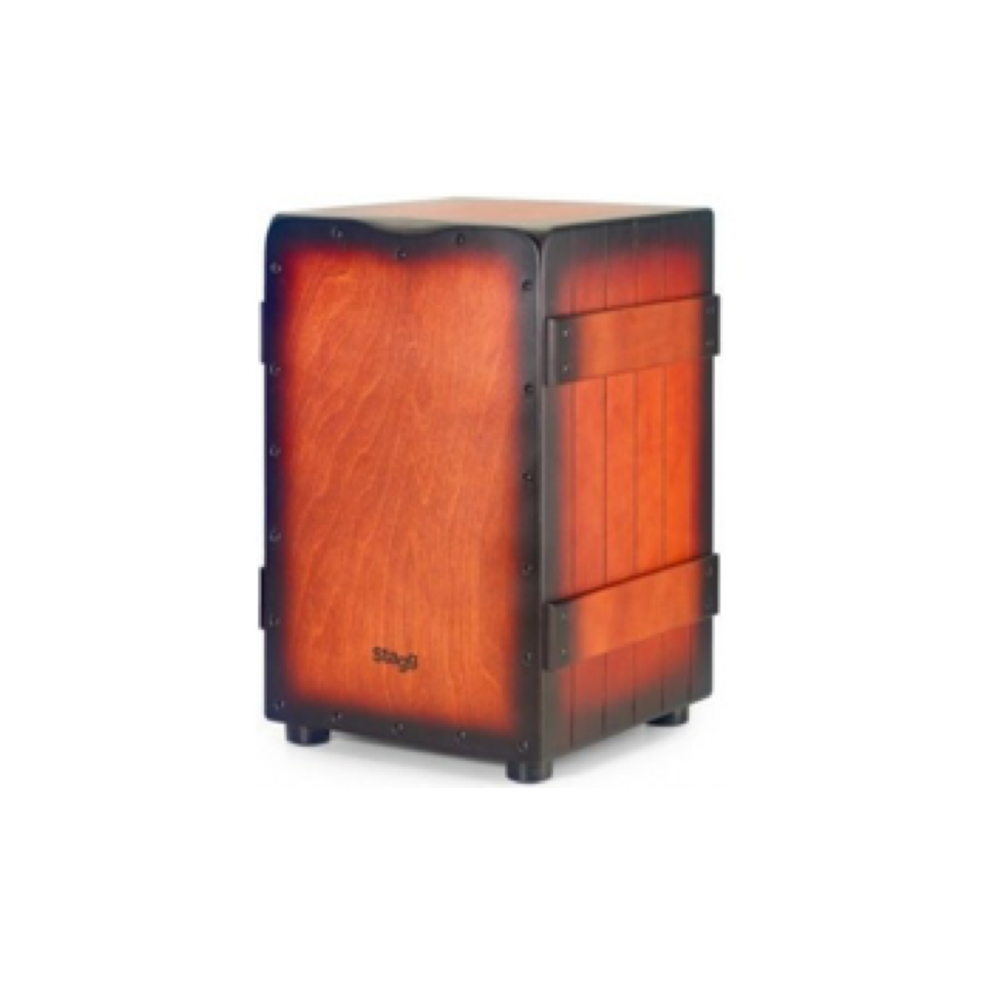 Stagg Crate Cajon Sunburst with Carry Bag