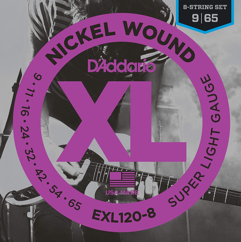 D'addario EXL120-8 8 String Set