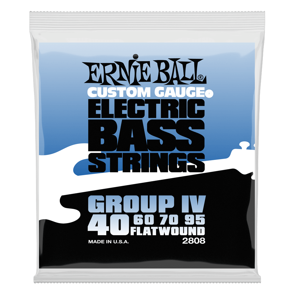Ernie Ball Group IV Flatwound Bass Strings (2808) 40-95