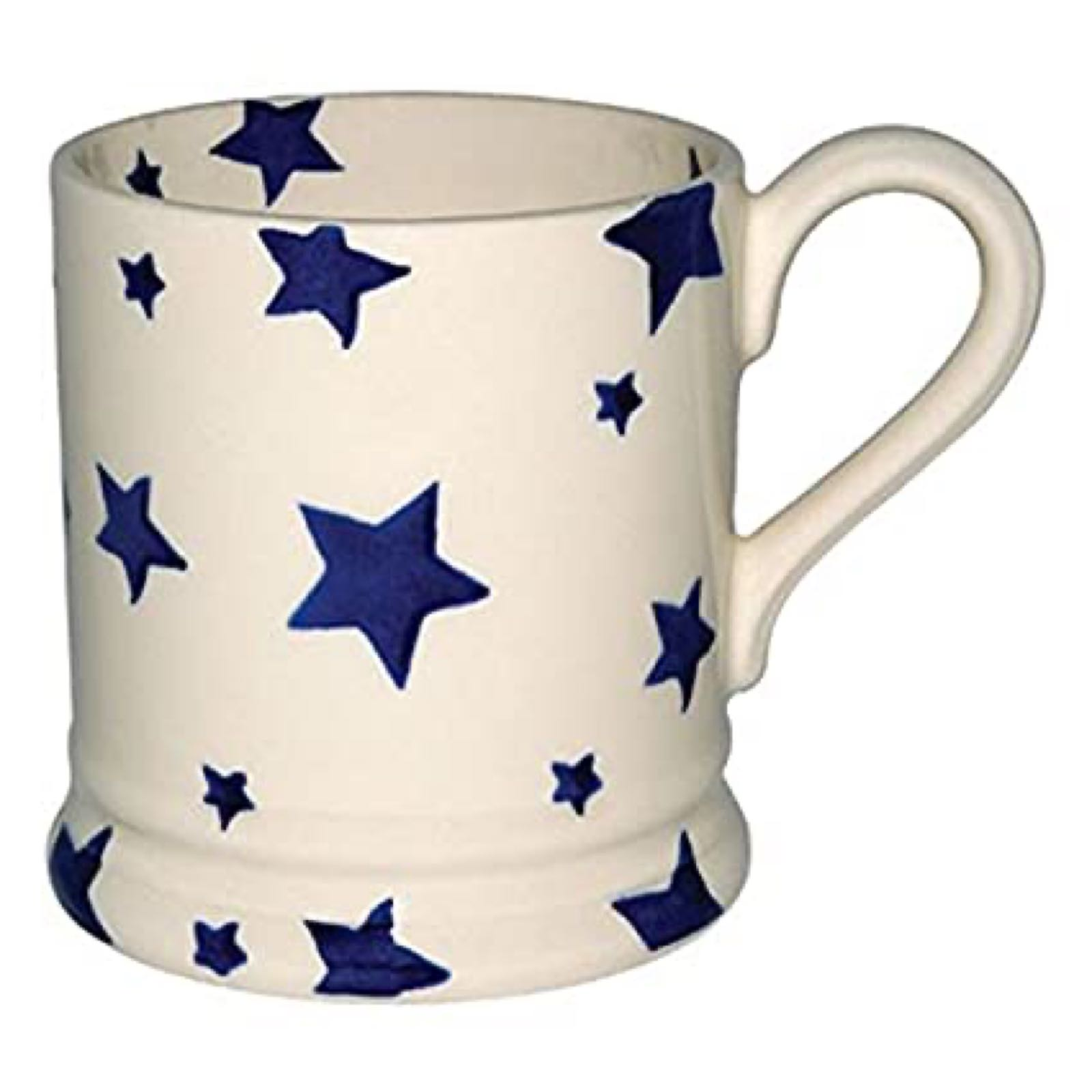 Emma Bridgewater Blue Star  1/2 Pint Boxed Mug