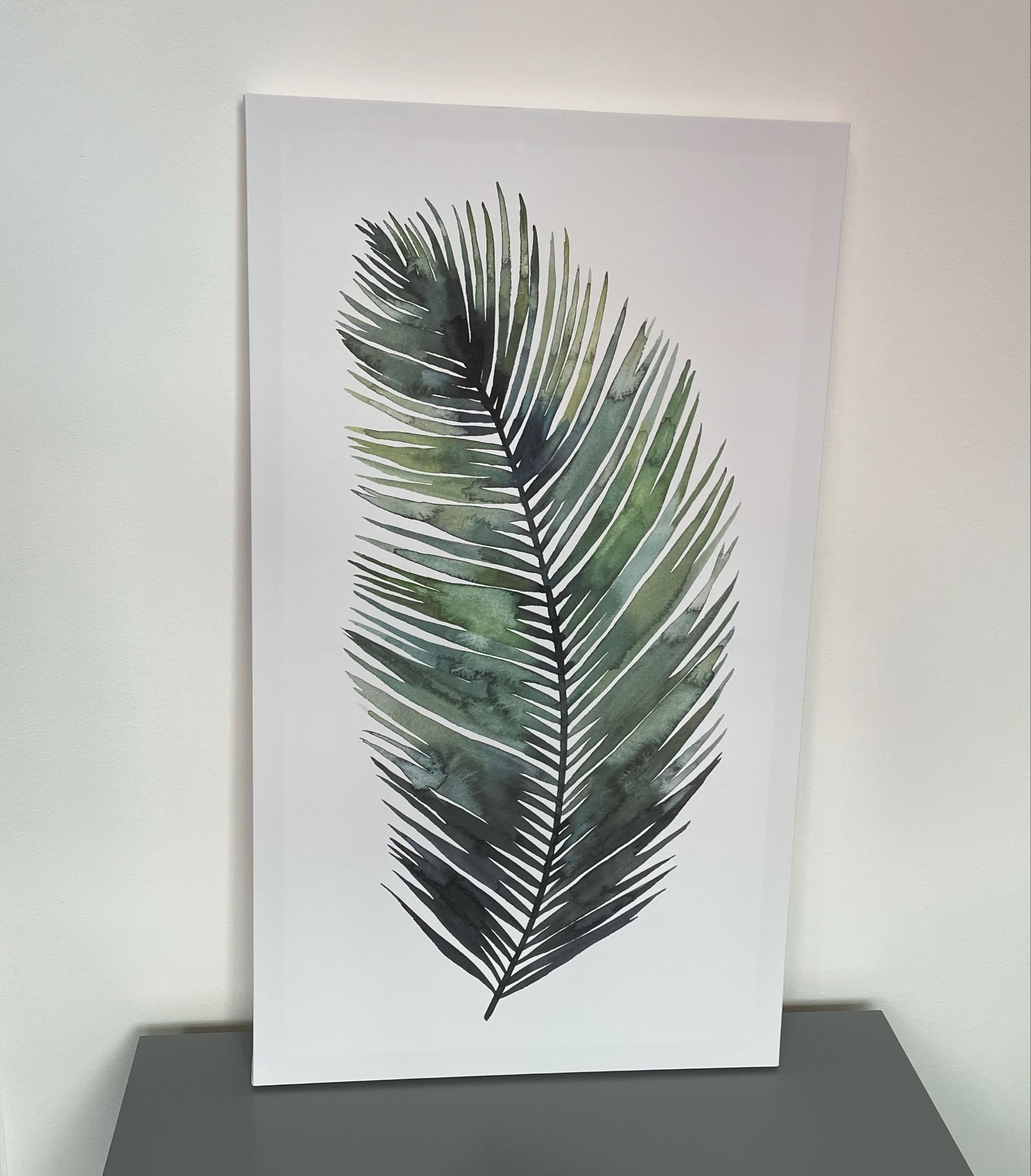 Large Leaf Canvas
