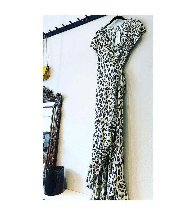 Stajl – Long Wrap Dress Leopard Cream