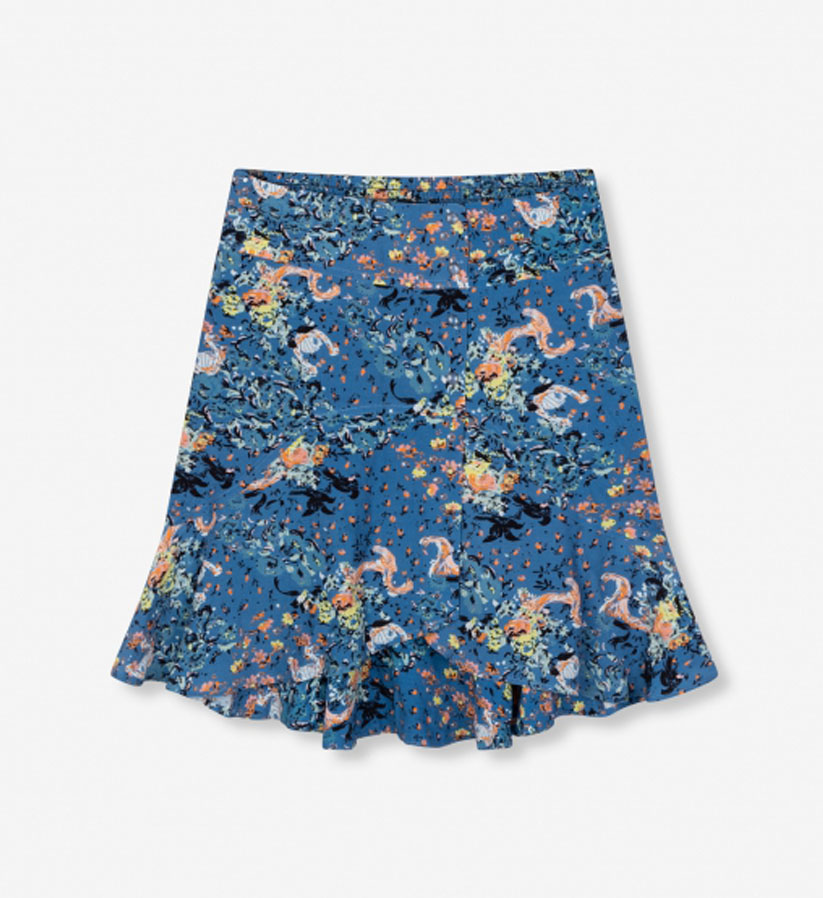 ALIX The Label - Volant western flower skirt