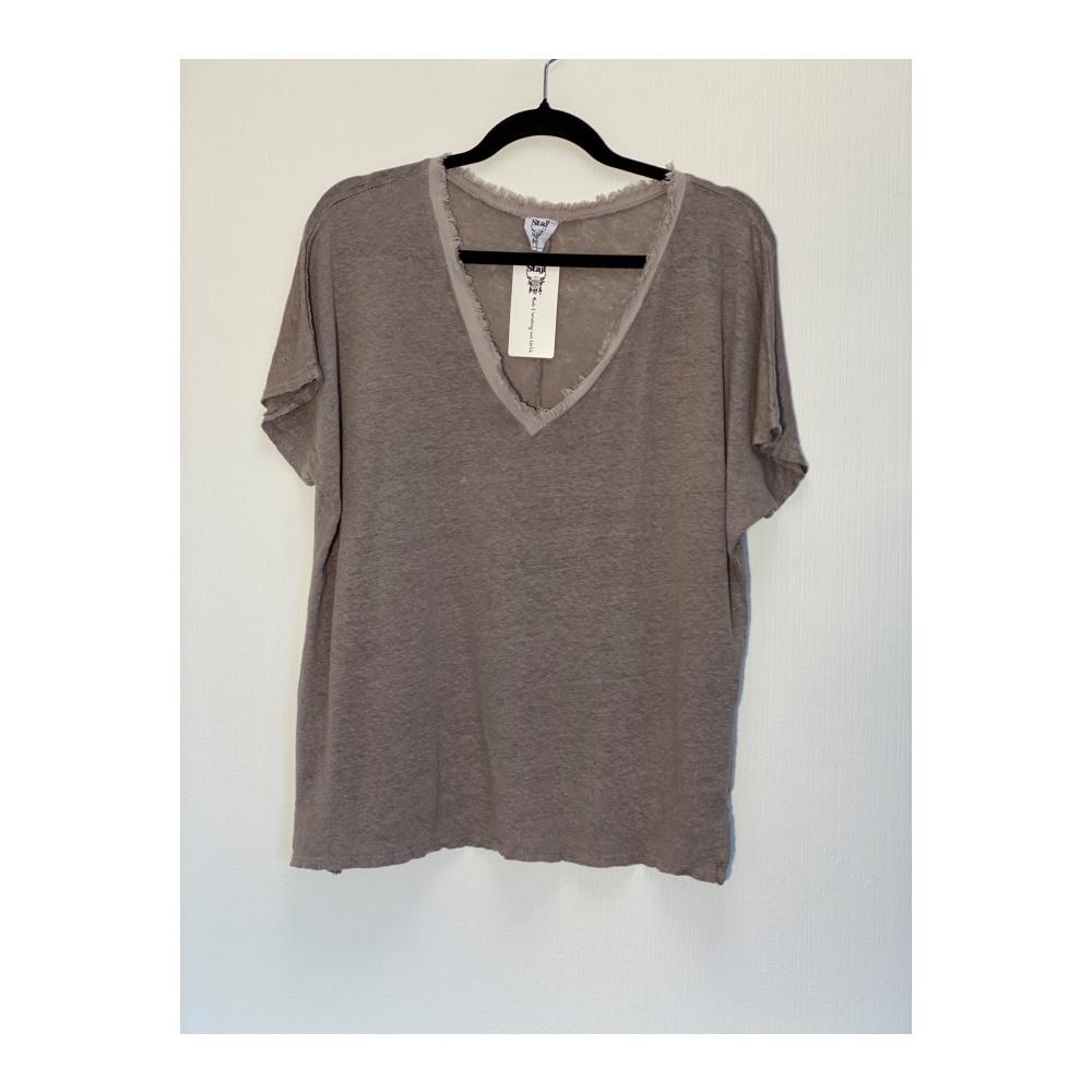 Stajl - T-shirt linne raw brun