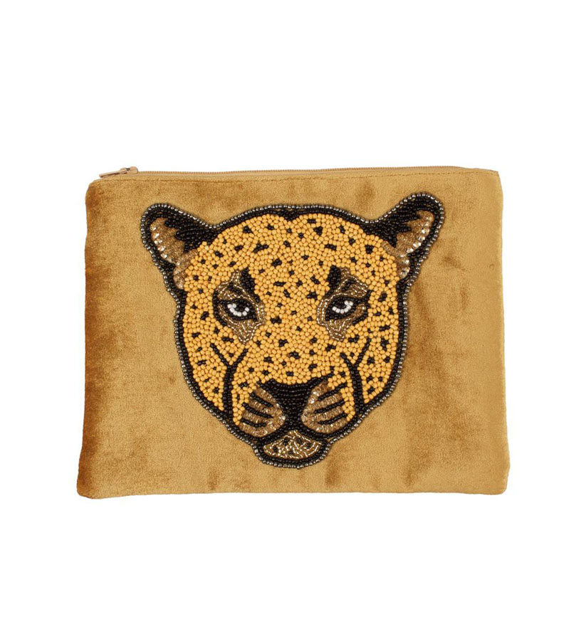 A la Collection - Velvet Pouch Leopard