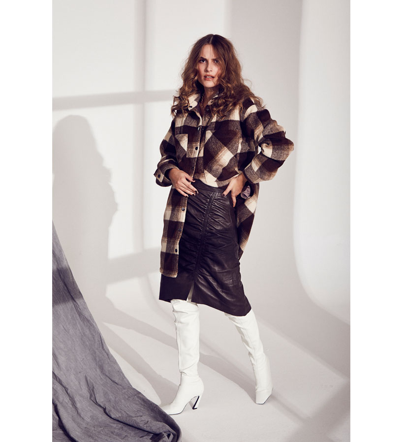 Co´couture - Kelly Fall Check Jacket Mocca