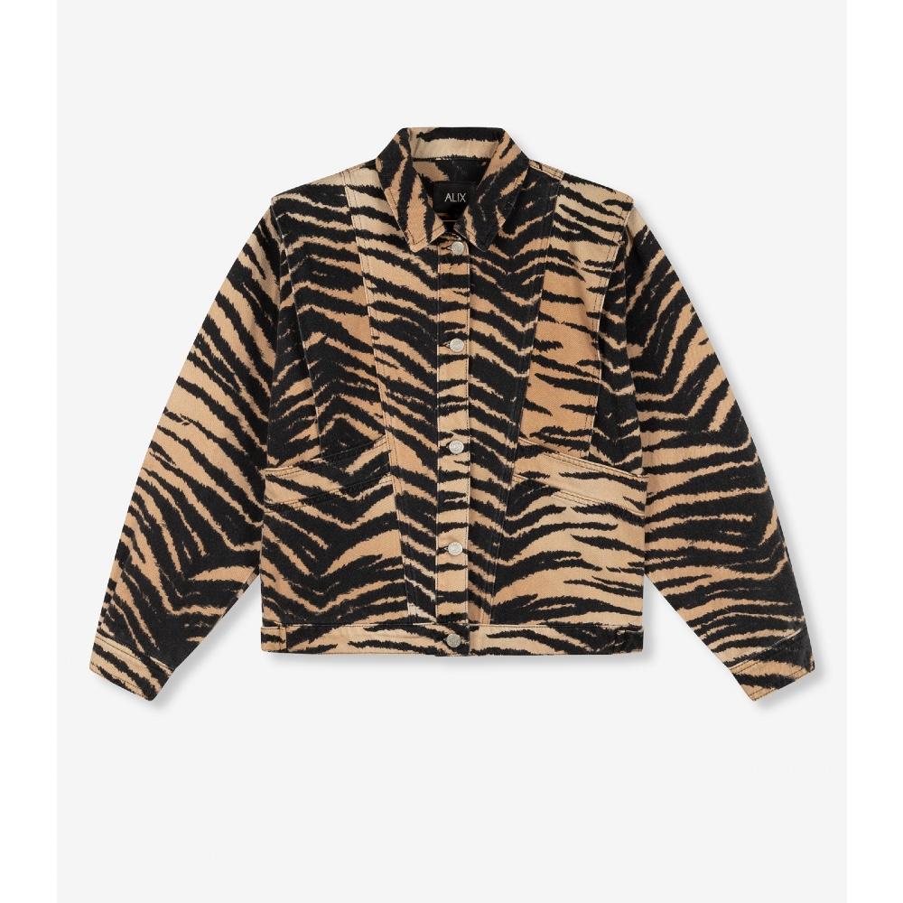 Alix the Label - Washed Tiger Denim jacket