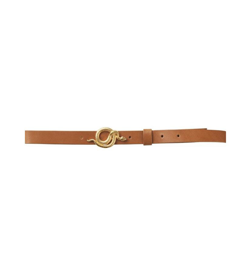 Notes du Nord - Paxton leather Belt Cognac Gold