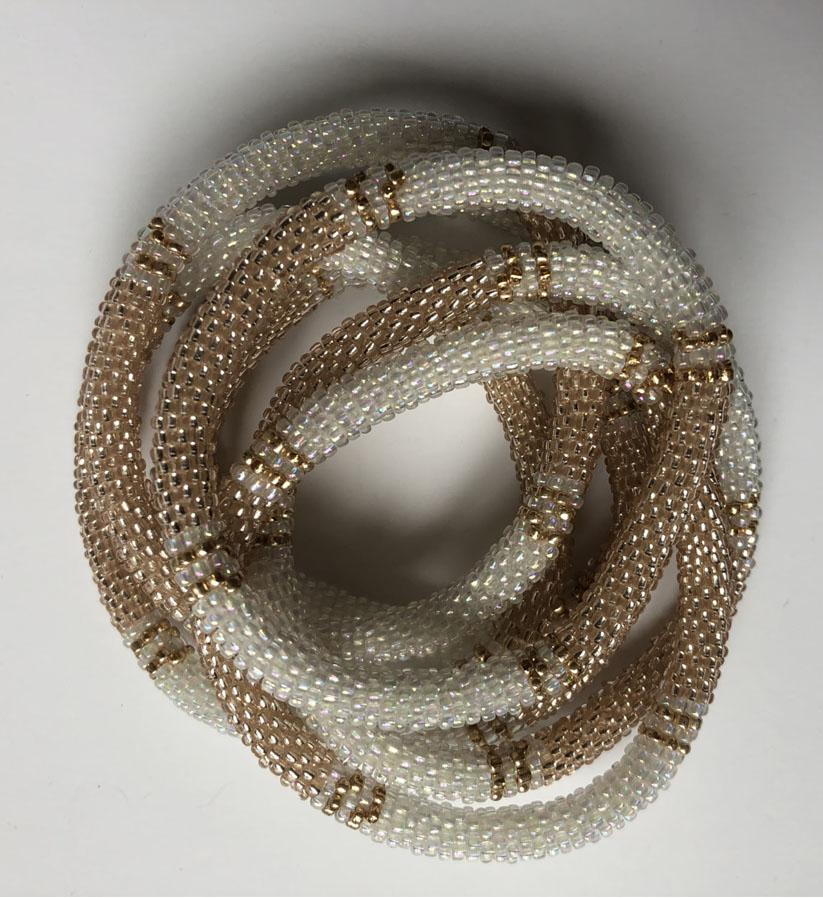 Ella Agency - Nepal Armband White with Gold