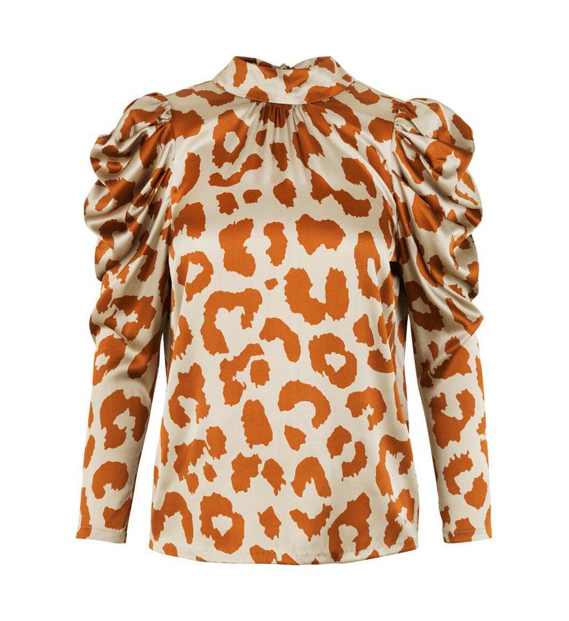 Notes du Nord - Rihanna Leopard Silk Blouse