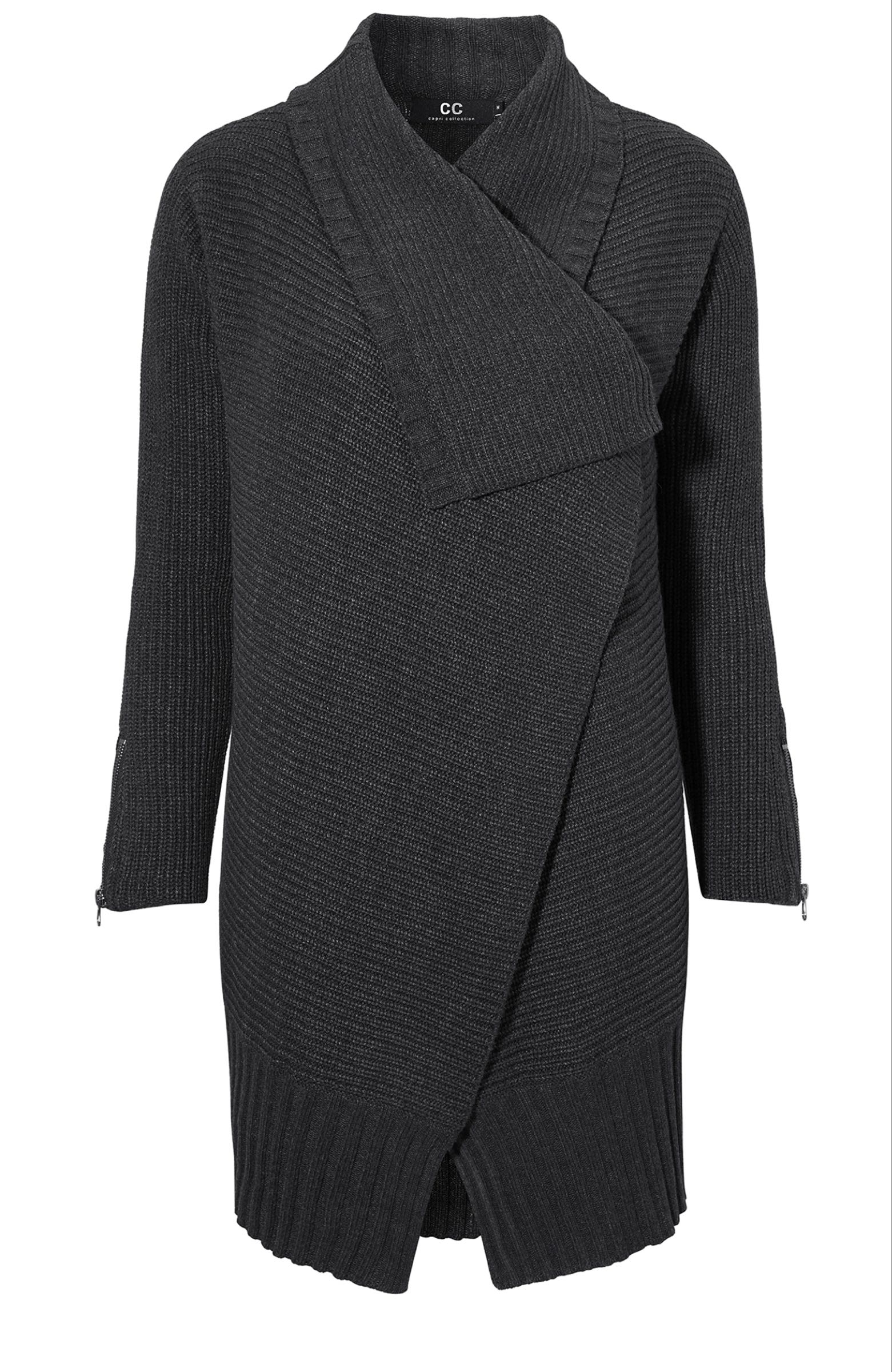 Choen cardigan, black/melange